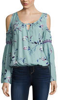 Arizona Bell Sleeve Cold Shoulder Top- Juniors