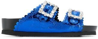SUECOMMA BONNIE Crystal Buckle Sandals