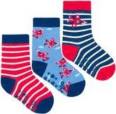 Jo-Jo JoJo Maman Bebe 3 Pack Aeroplane Socks (Baby) - Navy-6-12 Months