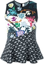 Peter Pilotto flared printed blouse - women - Viscose - 8