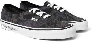 Vans + Neighborhood Authentic 44 Dx Printed Canvas Sneakers