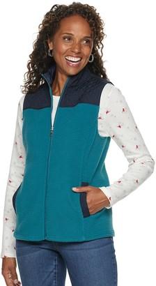 Croft & Barrow Women's Quilted Faux-Sherpa Vest