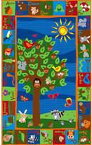 Kid Carpet Forest Animal Alphabet Multi Colored Area Rug Rug