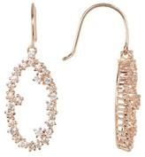 Suzanne Kalan 14K Gold Open Circle White Sapphire Earrings