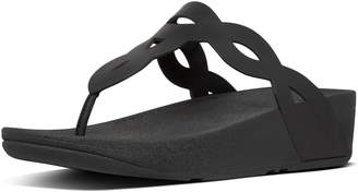 FitFlop Eva Interlace Leather Toe-Thongs