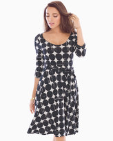 Soma Intimates Ilana Scoop Back Dress Black Moon