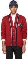 Gucci Red Wolf Patch Cardigan