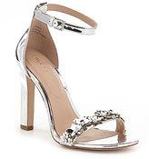 Aldo Milaa Floral Embellished Metallic Dress Sandals