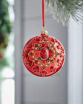 Silverado Red & Green Collection Pearlized & Beaded-Medallion Ornament