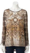 Dana Buchman Women's Print Textured Knit Tunic