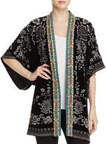 Johnny Was Okinowa Embroidered Velvet Kimono