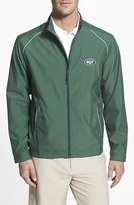 Cutter & Buck Men's Big & Tall 'New York Jets - Beacon' Weathertec Wind & Water Resistant Jacket