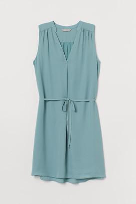 H&M Tie Belt Dress - Turquoise