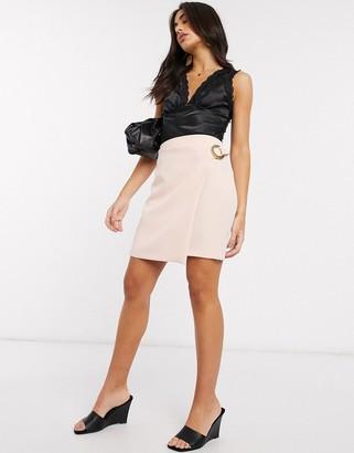 Vesper wrap skirt in pink