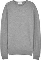 John Smedley 1.singular Black Merino Wool Jumper