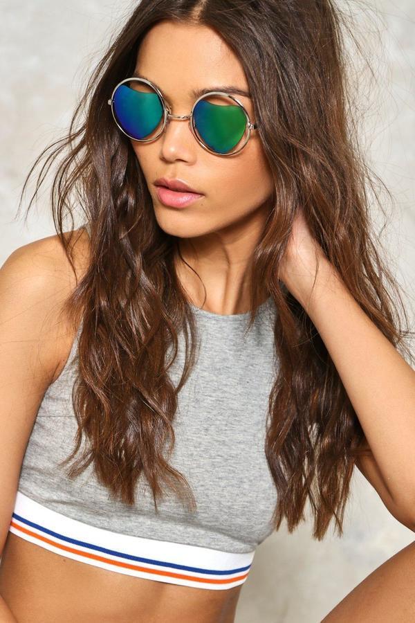 Nasty Gal nastygal Wild Heart Round Fashion Glasses
