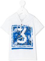 John Galliano paisley print shortsleeved hoodie