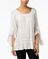 NY Collection Ruffle-Sleeve Top