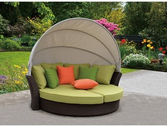 Brayden Studio Linton Modern Outdoor Expandable Oval Daybed