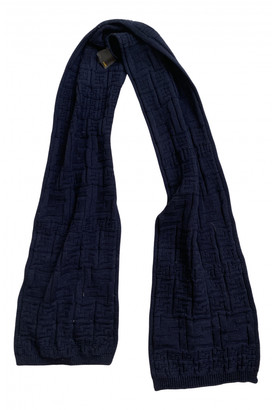 Fendi Navy Wool Scarves & pocket squares