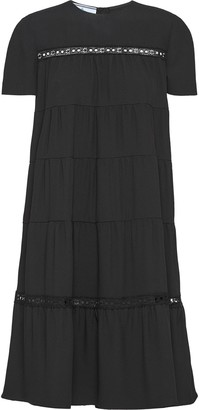 Prada Round Neck Sable Dress