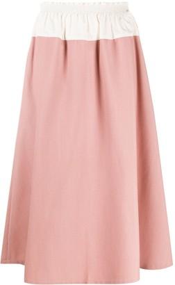Sara Lanzi Colour-Block Midi Skirt