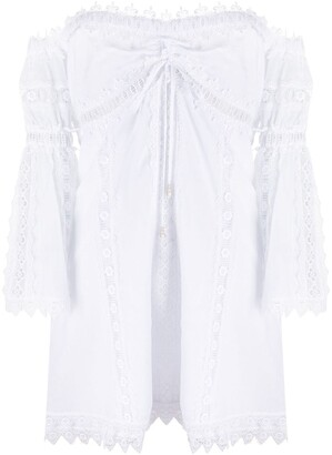 Charo Ruiz Ibiza Embroidered Off-The-Shoulder Dress