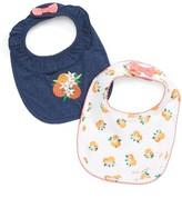 Kate Spade Infant Girl's Orangerie 2-Pack Bibs Gift Set