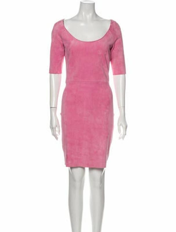 Thumbnail for your product : Jitrois Scoop Neck Mini Dress Pink