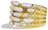 David Yurman Willow Open Five-Row Ring with Diamonds in Gold