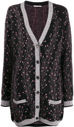 Marco De Vincenzo metallic-thread knit cardigan