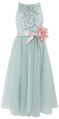 Monsoon - Girls Green 'Honor' Maxi Dress