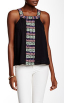 Love Stitch Embroidered Square Neck Tank