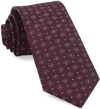 Tie Bar Gemstone Gala Burgundy Tie