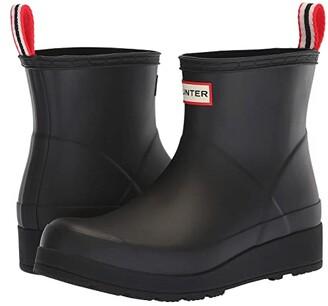 Hunter Play Short (Black) Women's Rain Boots