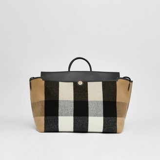 Burberry Check Merino Wool Cashmere Society Holdall