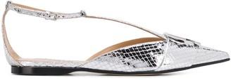 Sergio Rossi Snakeskin Effect Sandals