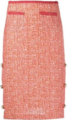 Pinko Tweed Pencil Skirt