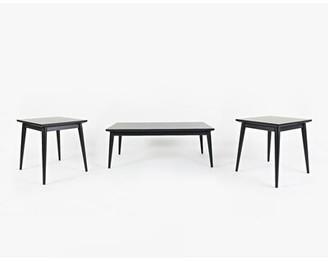 Corrigan Studio Monica 3 Piece Coffee Table Set Color: Dark Charcoal