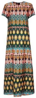 La DoubleJ Swing Print Silk Maxi Dress