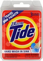 Bed Bath & Beyond Tide® 3-Count Travel Liquid Detergent Sink Packets
