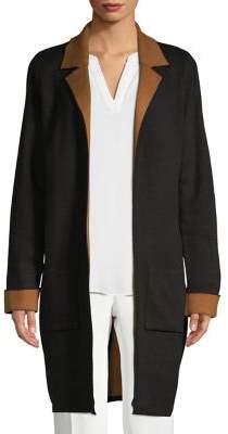 T Tahari Open-Front Knit Long Cardigan