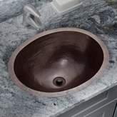 Soleil Copper Metal Oval Undermount Bathroom Sink Soleil