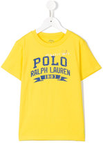 Ralph Lauren logo print T-shirt - kids - Cotton - 2 yrs