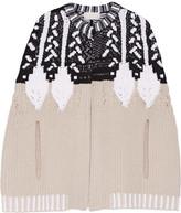 Peter Pilotto Intarsia Wool-blend Cape - Beige