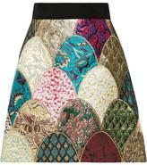 Dolce & Gabbana Patchwork Brocade Mini Skirt - Turquoise