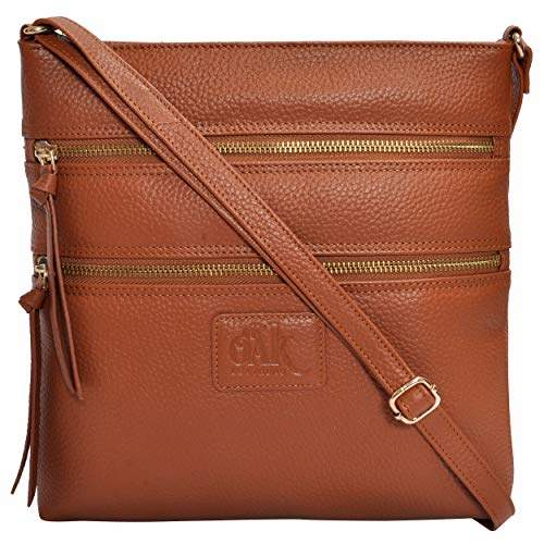 f3ac2eacdb5 Leather Crossbody Purses and Handbags for Women-Premium Crossover Bag Over  The Shoulder Womens ()