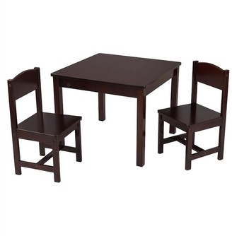 Kid Kraft Aspen Table & 2 Chair Set - Espresso