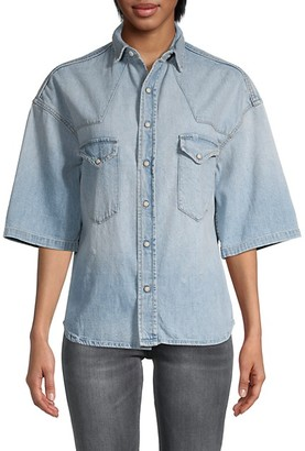 R 13 Oversized Denim Shirt