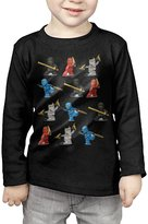 SLXCMOST Little Boys Girls Lego Ninjago Long Sleeve T-Shirts